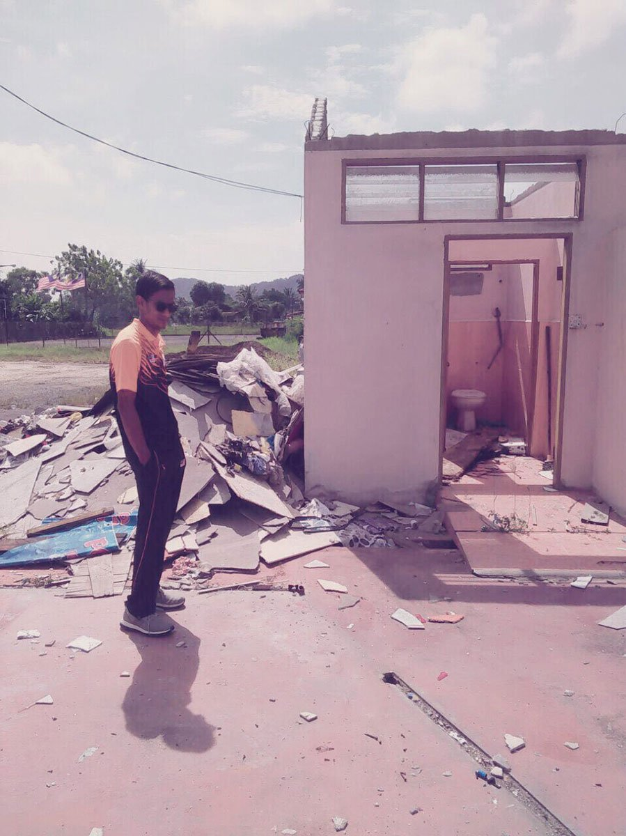 The place where Ridzuan used to live with his friends have been demolished.