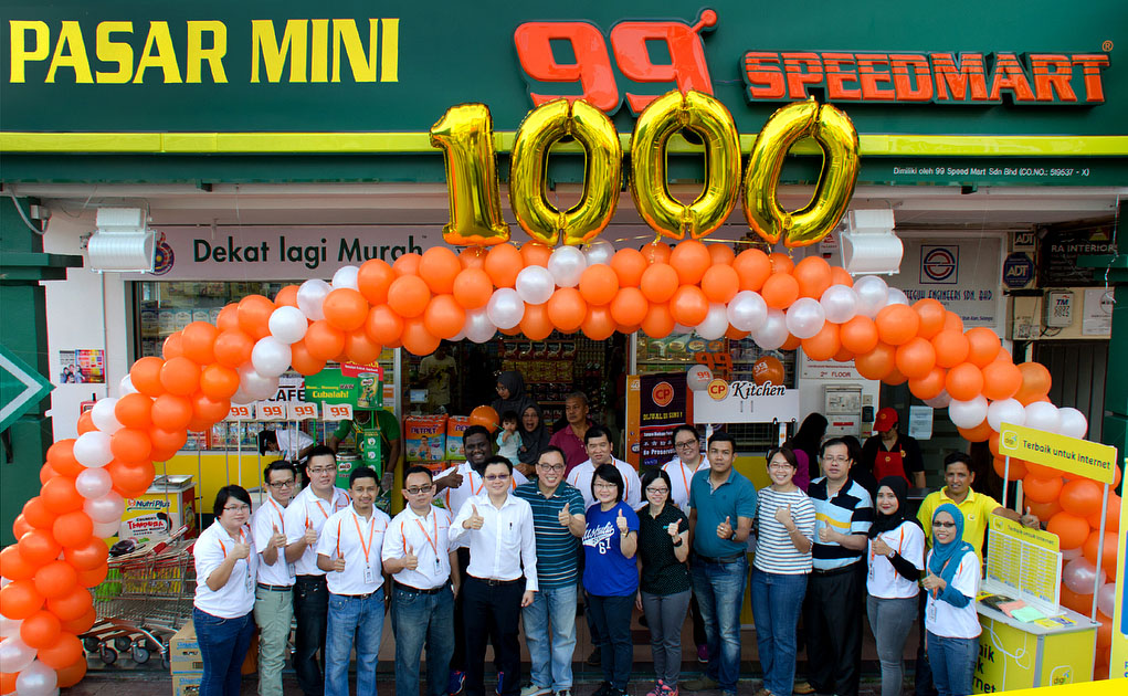 The 1000th 99 Speedmart outlet was opened at Shah Alam Seksyen 13 (2) recently.