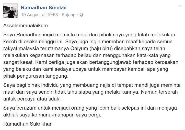 Image from Ramadhan Sinclair/Facebook
