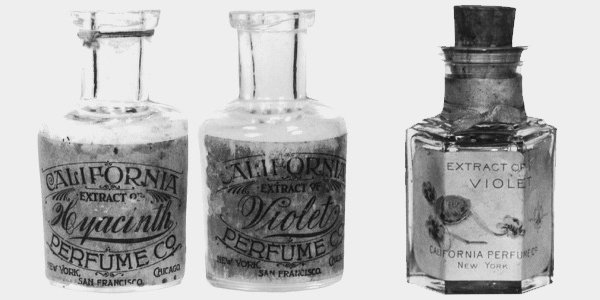 Some of California Perfume Company's early range of perfumes.