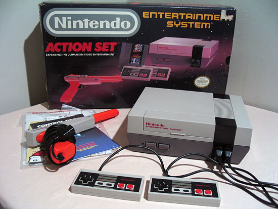 The 1985 Nintendo Entertainment System.