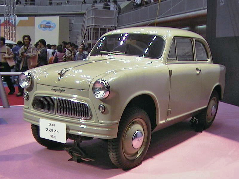 The 1955 Suzuki Suzulight.