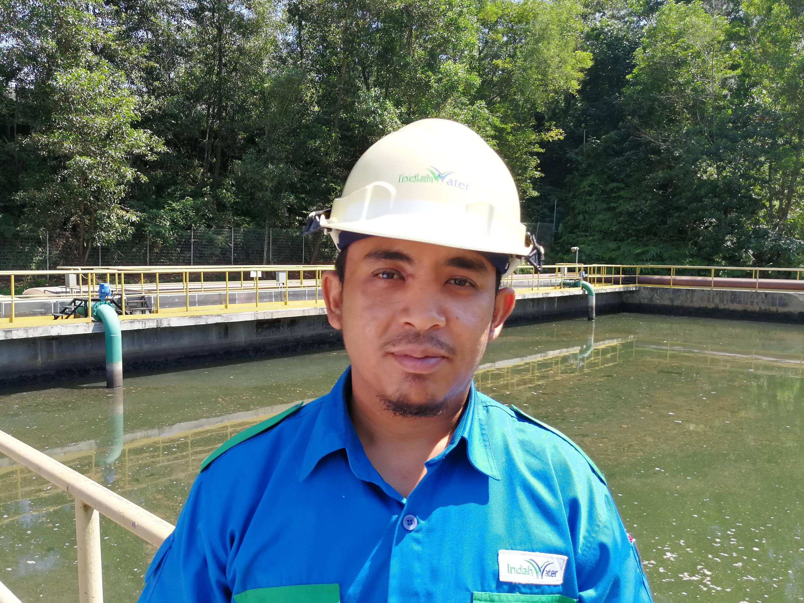 Hamidi has been working as a treatment plant technician for seven years.