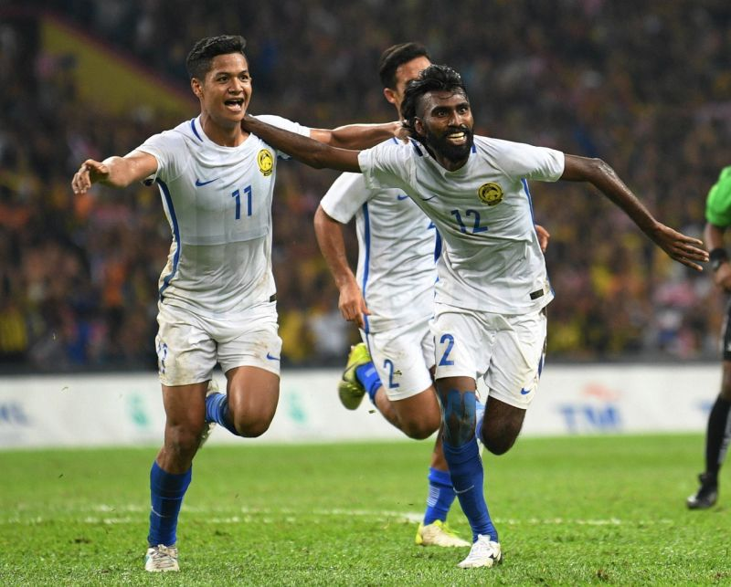 National striker N. Thanabalan's header clinched a 1-0 win for Malaysia over Indonesia.