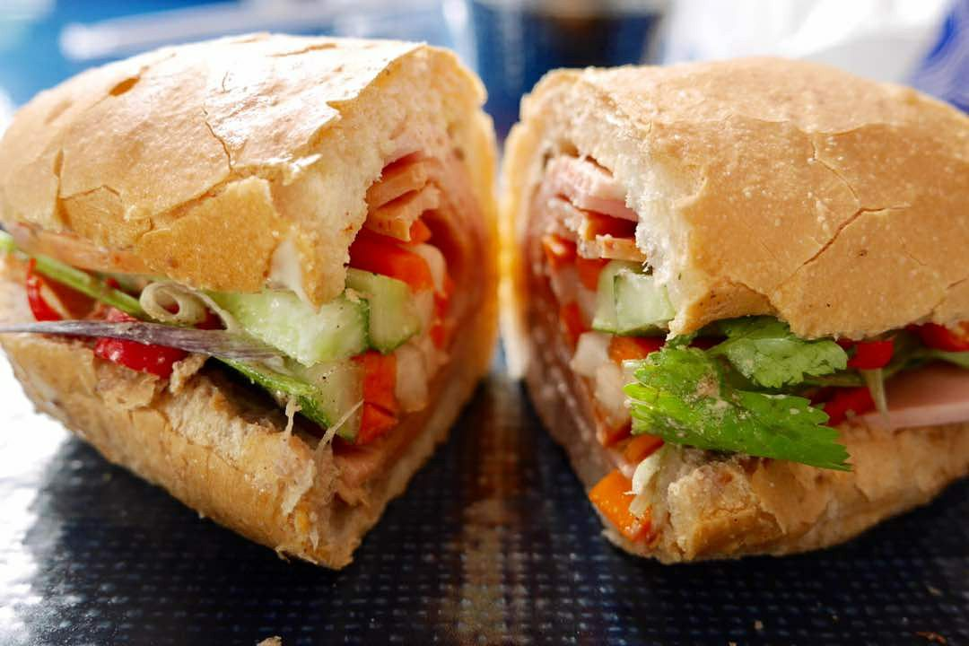 Bahn mi fans can choose from a few flavour options including chicken cold cuts and pulled oxtail.