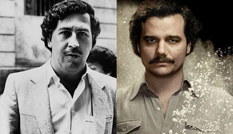 Wagner Moura (right) played Pablo Escobar in Seasons 1 and 2 of 'Narcos'