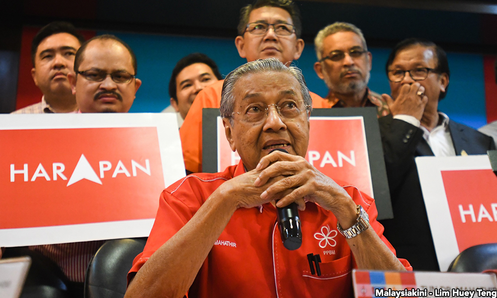 Tun Dr Mahathir Mohamad, the chairperson of Pakatan Harapan.