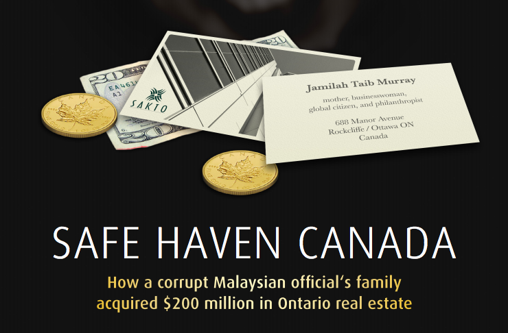BMF published a report titled, 'Safe Haven Canada' in February 2017. The report has alleged that Sakto was established with the proceeds of corruption.