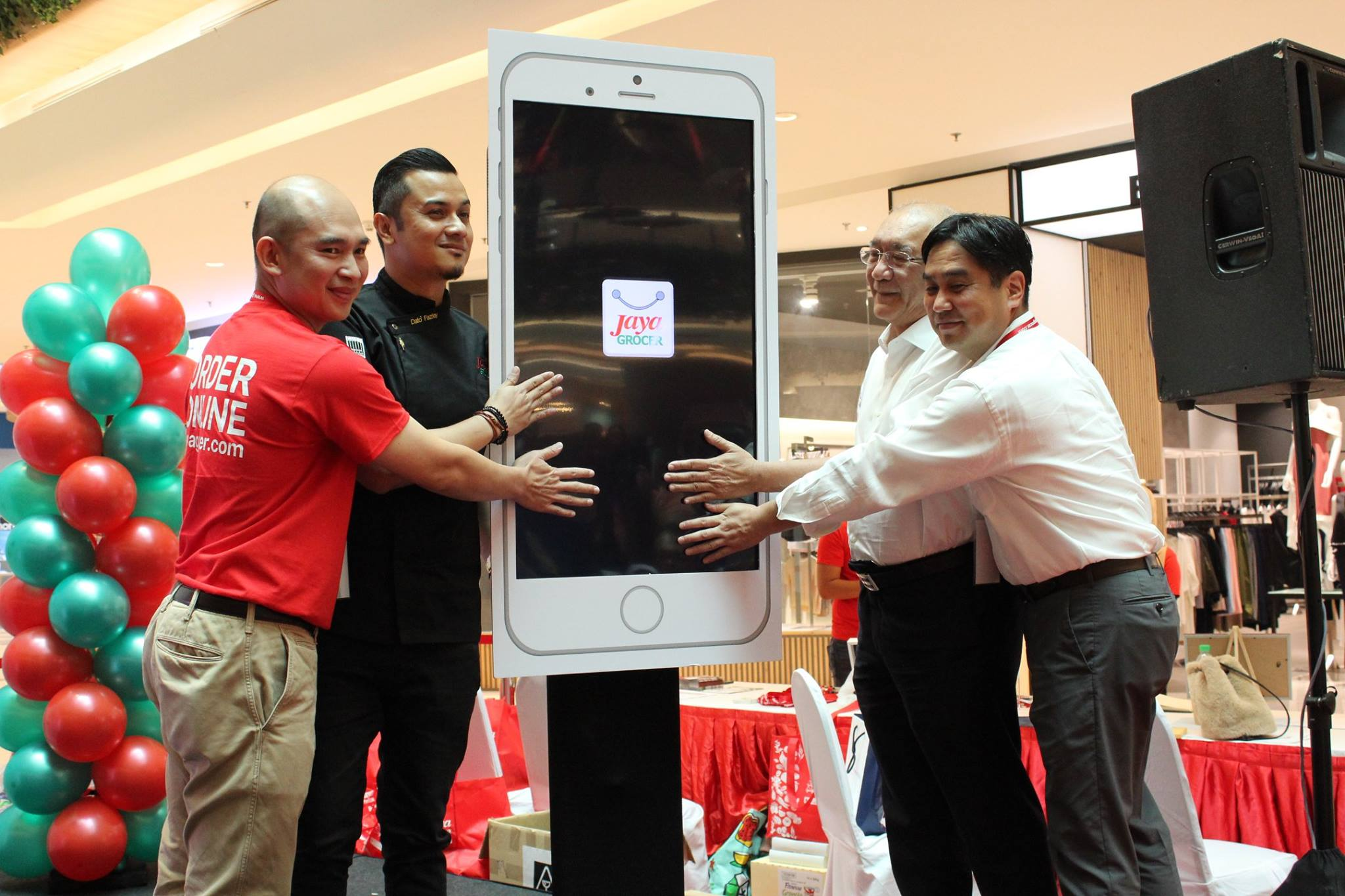 The launch, held at its Starling Mall outlet, included the attendance of their newly-appointed ambassador Chef Dato' Fazley Yaakob (second from left).