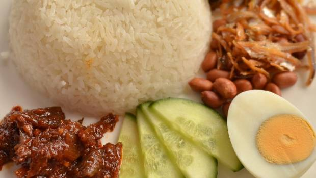 A file photo showing the nasi lemak dish.