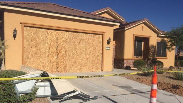 Stephen Paddock's house near Las Vegas.