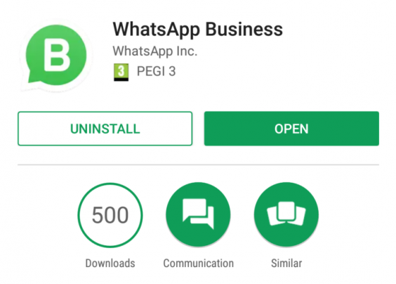 The business version of the app has a slightly different logo too.