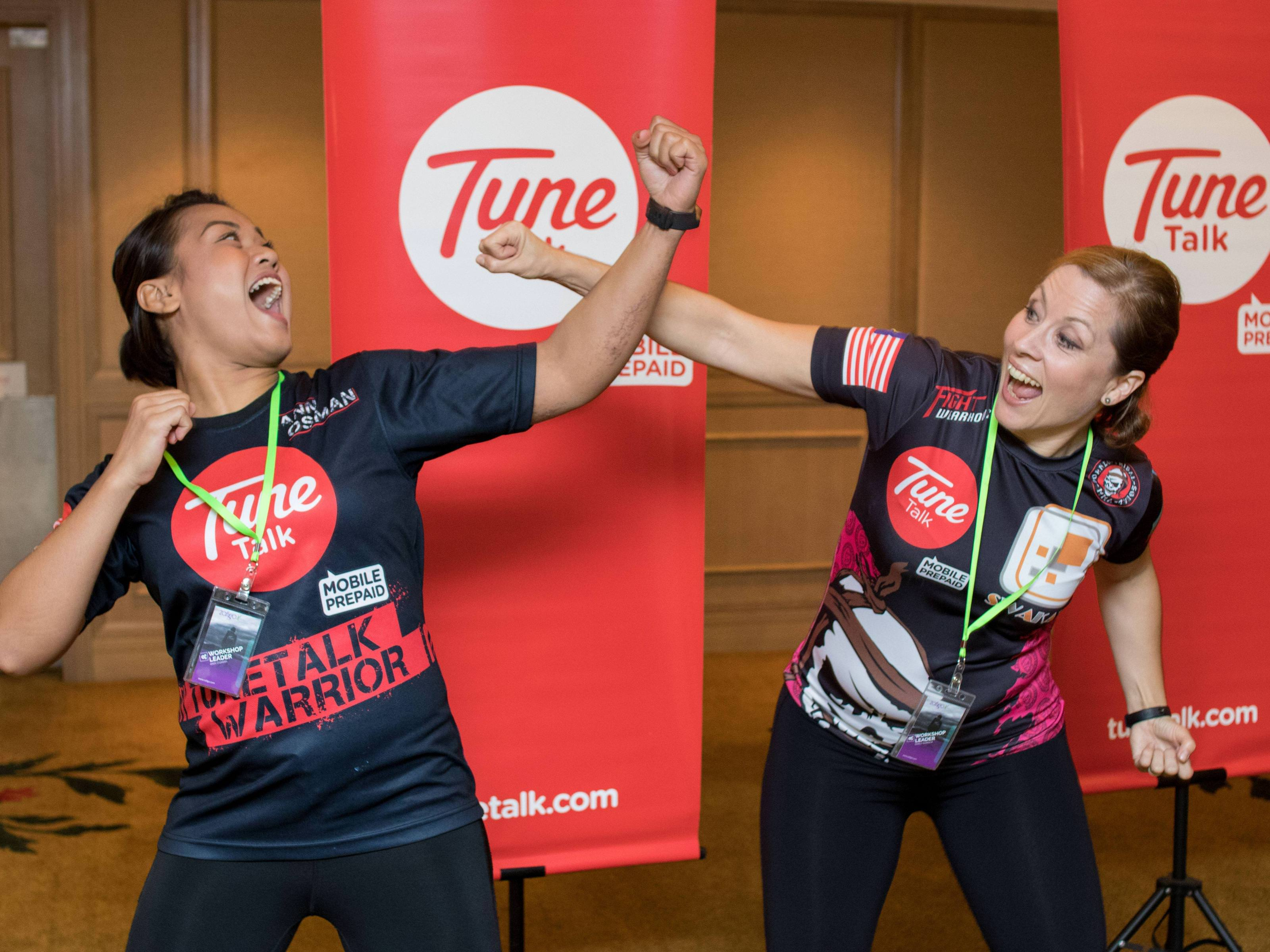 'Self-Defence for the Female Traveller' – a workshop conducted by Ann Osman and Emily Barner.