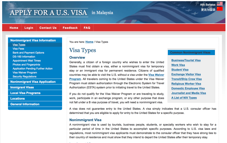 Applying For The US Visa: A Detailed Guide For Malaysians