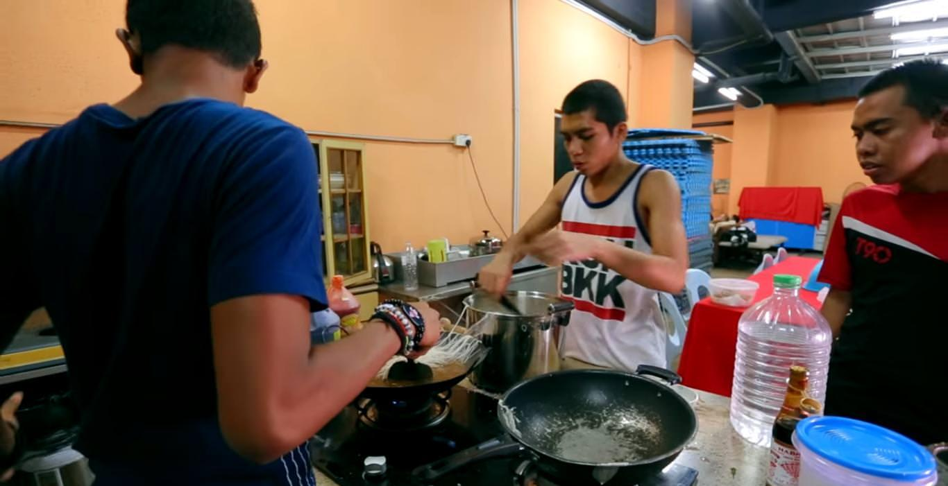 The participants are required to cook their own meals during the four-month training period.