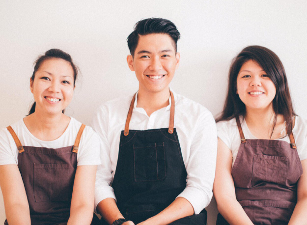The founders of Pop Up Dining KL: Miki Maria Lie, Daniel Yap and Amanda Huang