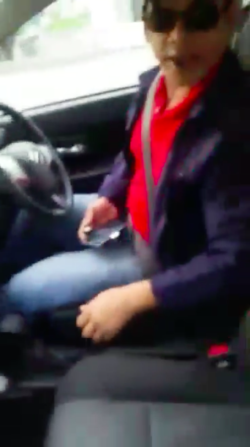 Screenshot from Shannon's video of her confrontation with the driver.
