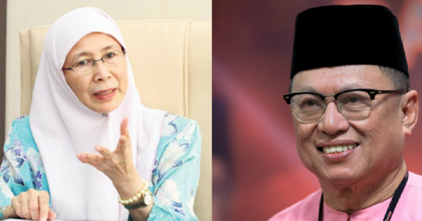 Dr Wan Azizah (left) and Datuk Dr Mohd Puad Zarkashi (right)