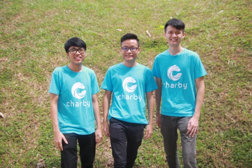 Chik Sheng Fei (left), Lim Thol Yong and Cheok Ming Jin (right).