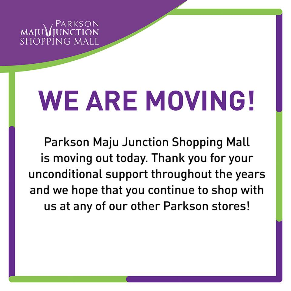 Image from Parkson Maju Junction Shopping Mall/Facebook