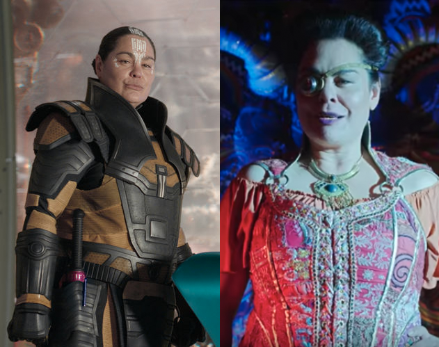 Rachel House as Topaz in 'Thor: Ragnarok' (left) and in 'The New Legends of Monkey' (right).