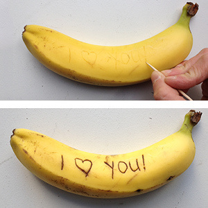 11. Ran out of paper? Bananas work just as well