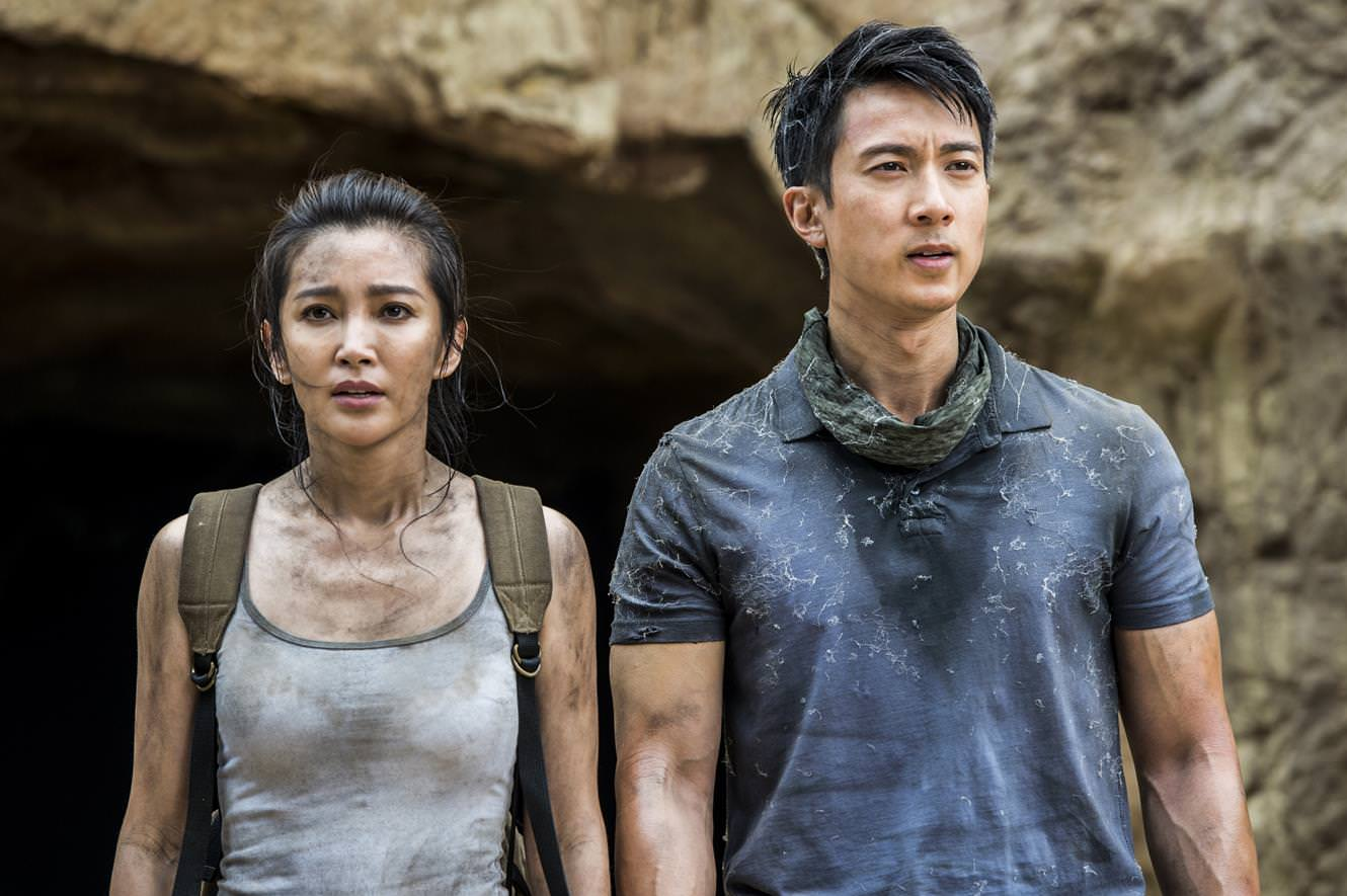 Li Bingbing (left) and Wu Chun (right) plays siblings Jia and Luke in 'Guardians of the Tomb'.