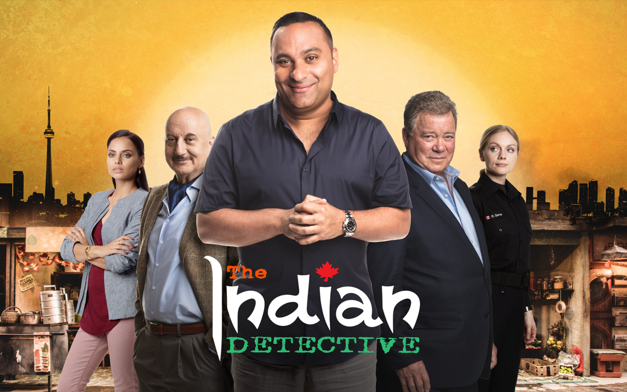 Russell Peters (middle) in Netflix's 'The Indian Detective'.