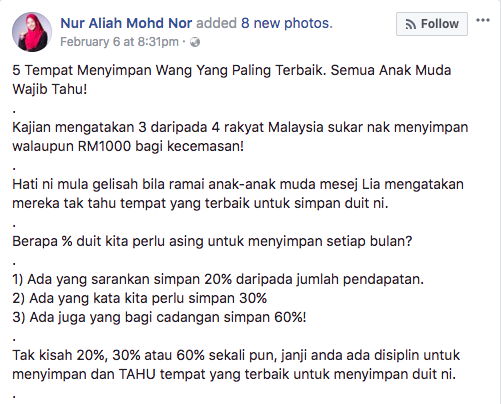 Image from Nor Aliah Mohd Nor / Facebook