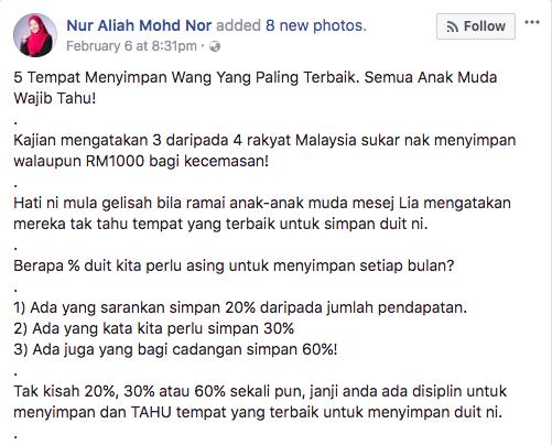 Image from Nor Aliah Mohd Nor / Facebook