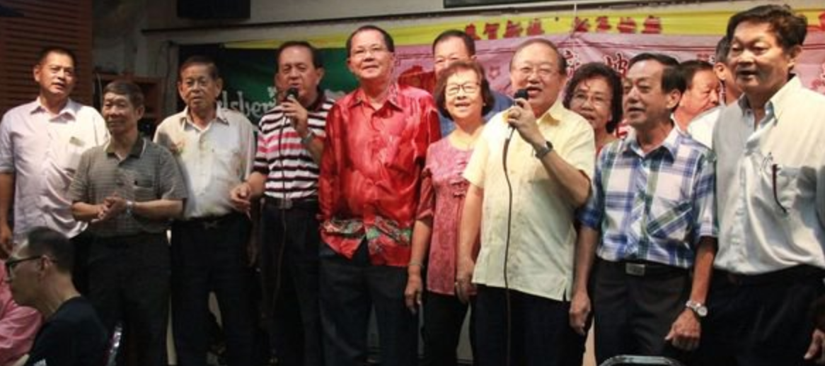 Members of the Toh Guan club at a CNY celebration.