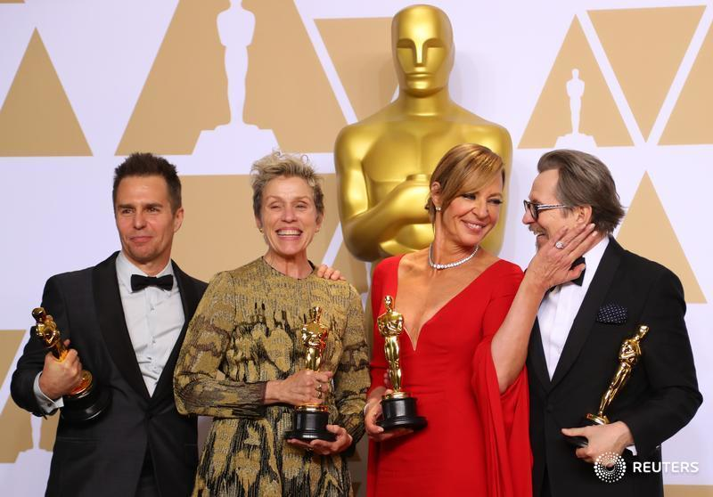 From left: Sam Rockwell, Frances McDormand, Allison Janney, and Gary Oldman.