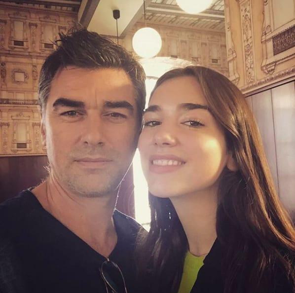 Dua Lipa and her father, Dukagjin Lipa.