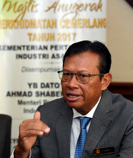 Agriculture and Agro-Based Industry Minister Datuk Seri Ahmad Shabery Cheek.