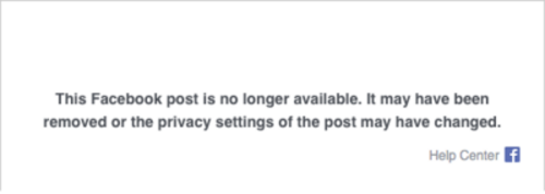 Wan Tarmizi's Facebook post is no longer available to view.