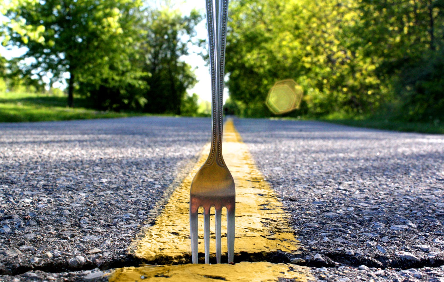 Fork in the road. Geddit geddit?