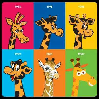 The many faces of Toys 'R' Us mascot, Geoffrey the giraffe