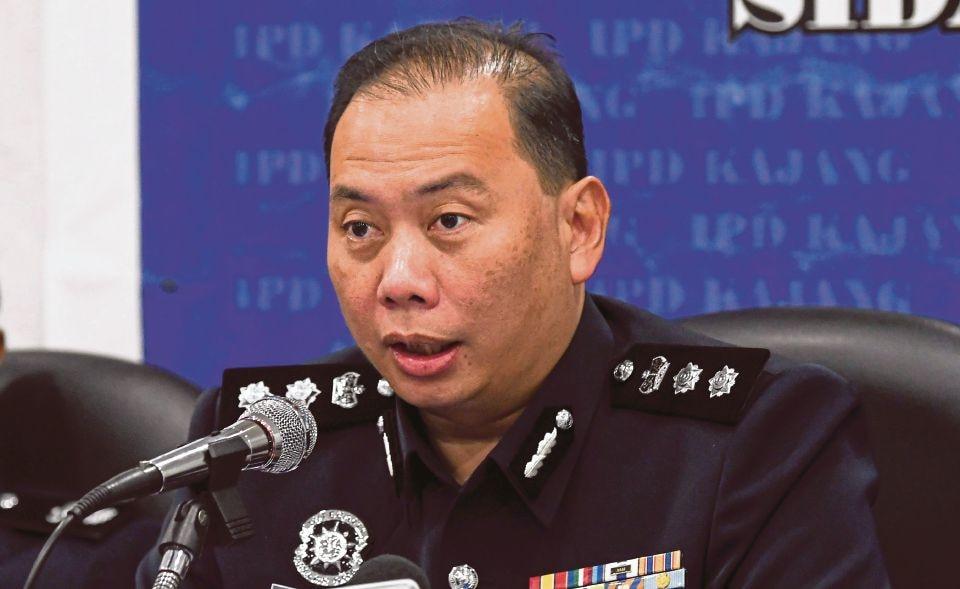 Kajang district police chief ACP Ahmad Dzaffir Mohd Yussof