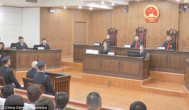 The court during Zhang's sentencing.