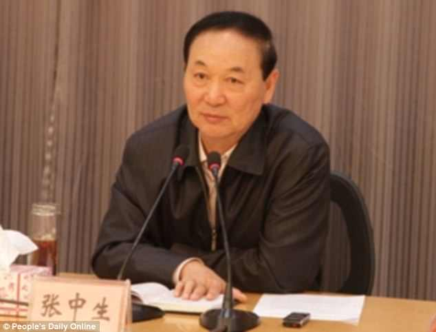 Zhang Zhongsheng during his time as vice-mayor.