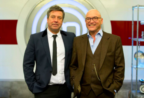John Torode on the left and Gregg Wallace on the right.