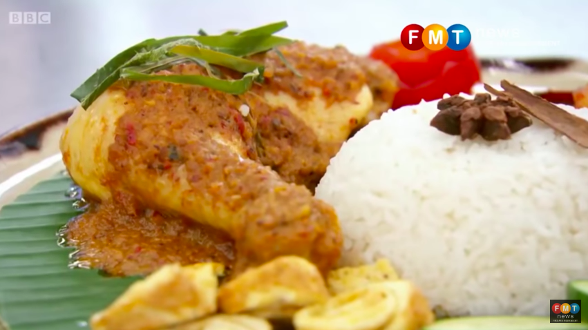 A close-up of Zaleha's chicken rendang. The original video has since been deleted from the official MasterChef account, though it has been reuploaded by Free Malaysia Today.