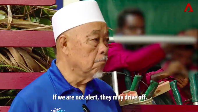 77-year-old Mohamed Yasin warned that lorries might drive off after filling up SGD200 worth of petrol.