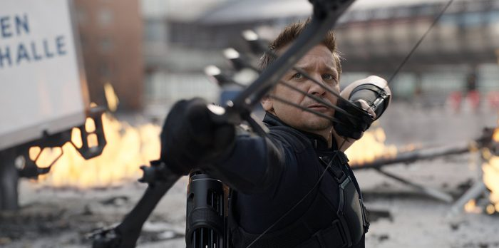 Jeremy Renner as Hawkeye / Clint Barton.