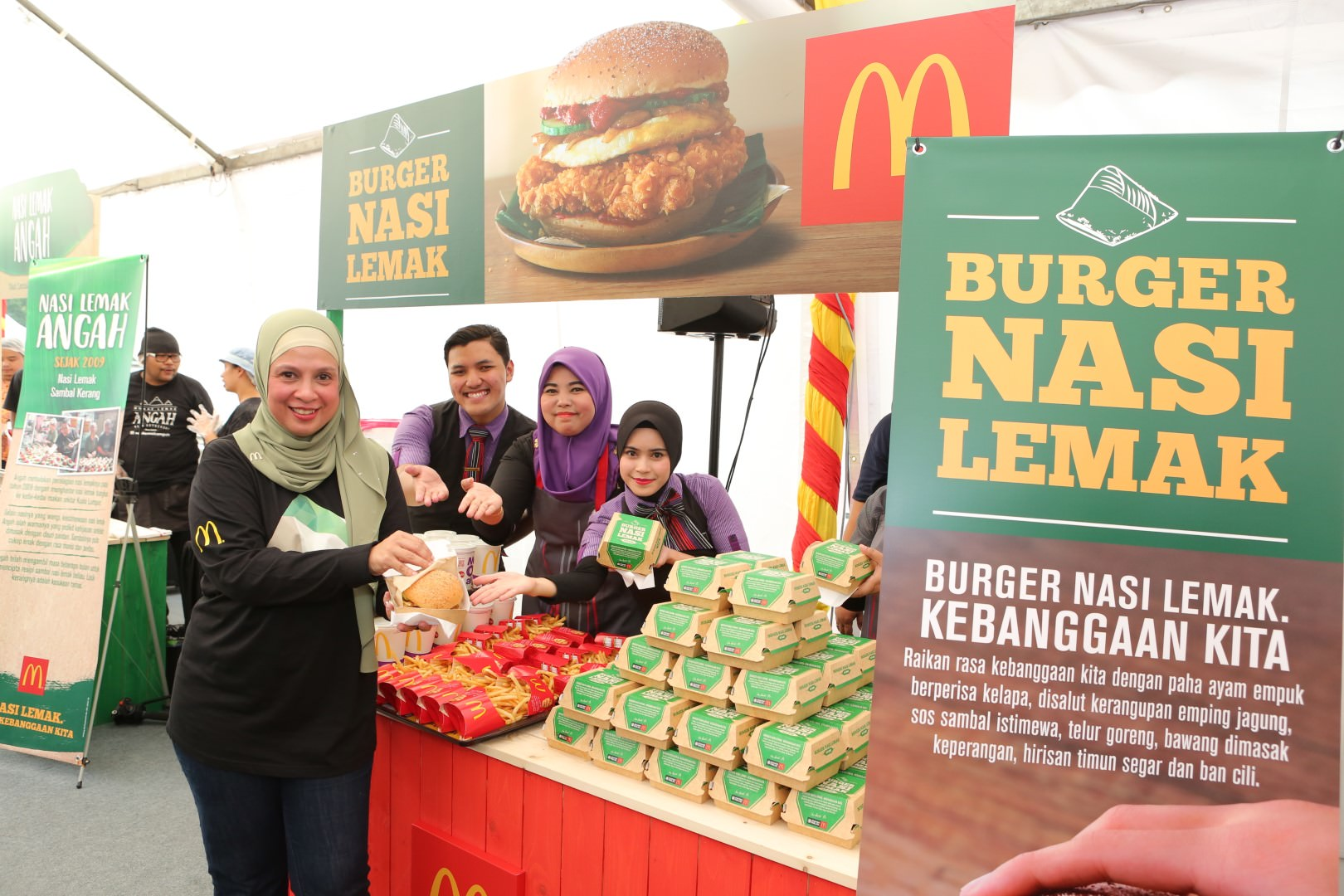 McDonald's Malaysia Chief Marketing Officer, Melati Abdul Hai, officiating the Nasi Lemak Burger launch.