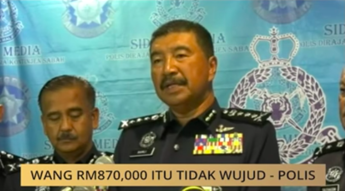 Sabah Police Commissioner Datuk Ramli Din explained that the money never existed.