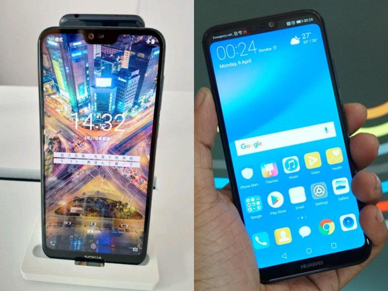 (L): Nokia X (R): Huawei P20 Lite
