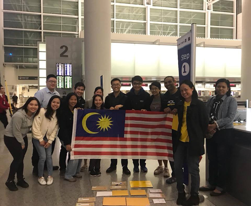 Malaysians trying to send ballot papers back from San Francisco, California.