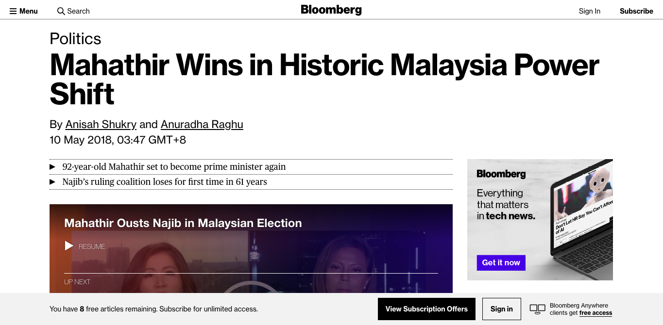 Image from Bloomberg