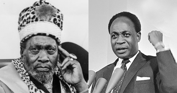Jomo Kenyatta (left) and Kwame Nkrumah (right).